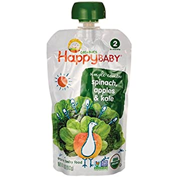 Amazoncom Organic Baby Food Spinach Apples Kale 4 Ounce 113