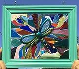 Dragonfly Stained Glass Suncatcher Window Art