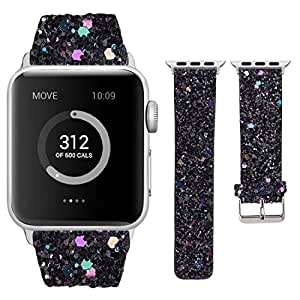 Amazon.com: Moonooda Compatible with Apple Watch Bands 38