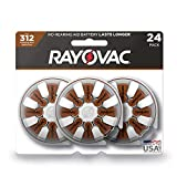 RAYOVAC Size 312 Hearing Aid Batteries, 24-Pack