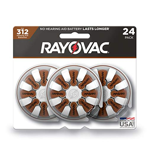 - Rayovac Hearing Aid Batteries Size 312 (24-Pack)