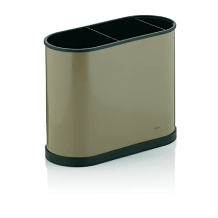 kela 11667 Cubiertos escurrecubiertos Benito Metal 22 x 10 x 18 cm Plástico, Color marrón