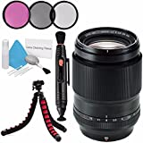 Fujifilm XF 90mm f/2 R LM WR Lens 16463668 + 52mm 3 Piece Filter Kit + Deluxe Cleaning Kit + Lens Pen Cleaner + Flexible Tripod Bundle