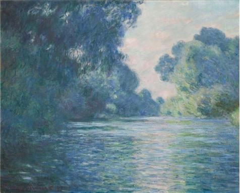 The Perfect Effect Canvas Of Oil Painting 'Arm Of The Seine Near Giverny At Sunrise 1897 By Claude Monet' ,size: 8x10 Inch / 20x25 Cm ,this High Quality Art Decorative Canvas Prints Is Fit For Powder Room Decor And Home Decor And Gifts (10