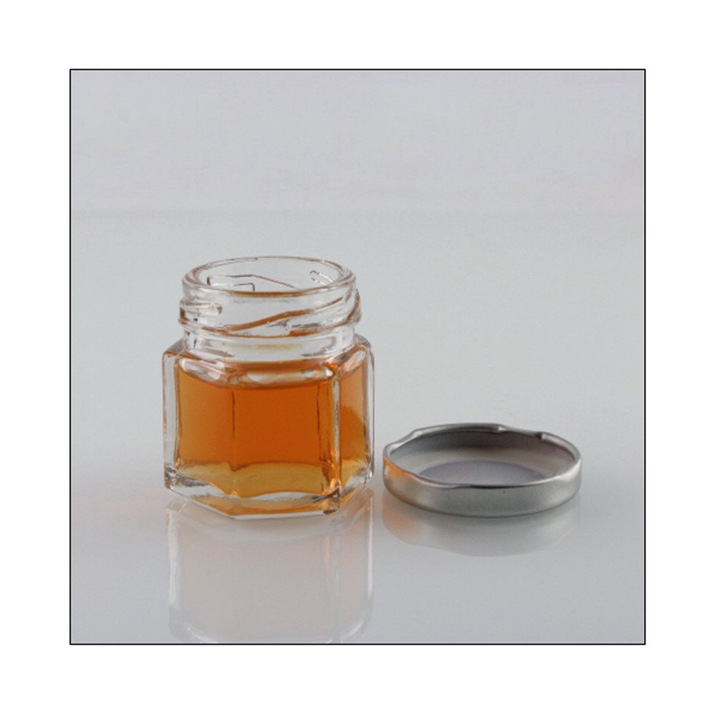 Amazon.com: 1.5 oz Hexagon Mini Glass Jars with Silver Lids and ...