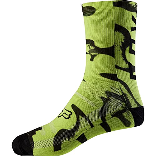 Fox Racing Print Trail 8in Sock Yellow/Black, L/XL - Men's