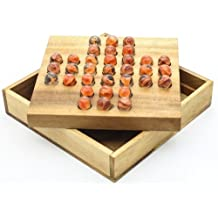 Solitaire Marble (Glass) - Wooden Brain Teaser Game