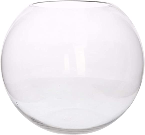 "My Swanky Home Classic Oversize 13"" Clear Glass Sphere Bowl 