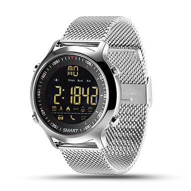 XKC-klockor herrklockor, herr smart klocka kinesisk digital fjärrkontroll kalender kronograf vattentät pulsmätare stegräknare fitness svart