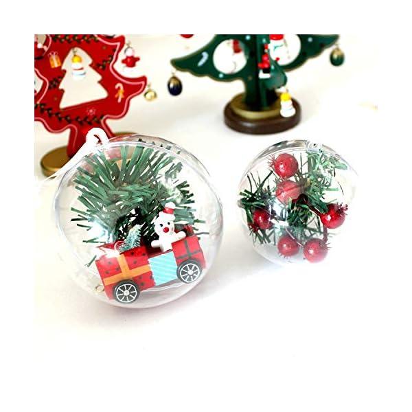 Okaytec Palline per Albero di Natale - Palle di Natale Trasparenti Come Addobbi Natalizi per Decorazioni Albero Natale - 20 pz (Diametro 6 cm) 5 spesavip