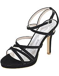 LOSLANDIFEN Womens High Heels Elegant Point Toe sandals Wedding Bridal shoes