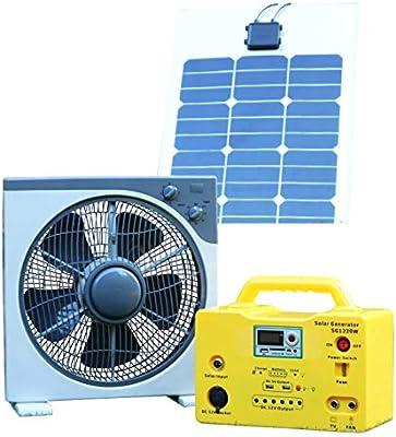 Ventilador solar verde PK 12 V 40 W DC + batería de reserva + ...