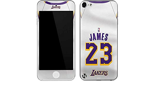Amazon.com  Skinit NBA Los Angeles Lakers iPod Touch (5th Gen 2012) Skin - LeBron  James Lakers White Jersey Design - Ultra Thin 1404521aa