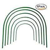 Grow Tunnel,ASDOMO 6PCS Plant Cover Greenhouse Hoops Plastic Coated Support Hoops for Garden Fabric(Bend Length 120 Width 48 Height 48CM)