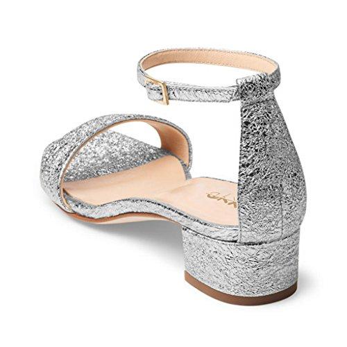 Sandali casual kaki con punta aperta con allacciatura elasticizzata per donna Pr6ski7LS