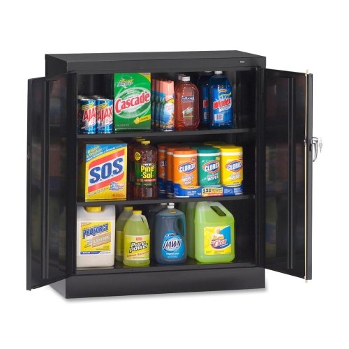 (Tennsco Counter-High Storage Cabinets-Storage Cabinets, Reinforced Doors, 36
