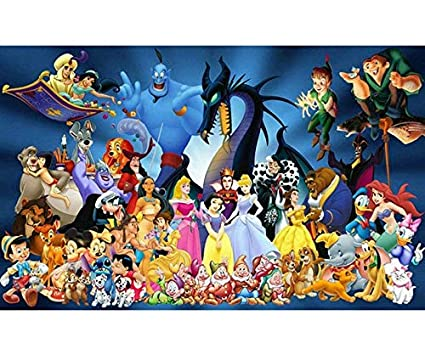 75a5432a01 Amazon.com: Mickey Mouse Pictrue 5D Diamond Painting Cartoon Character Full  Drill Mosaic Diamond Embroidery Cross Stitch Kit Wall Painting(45x35cm)