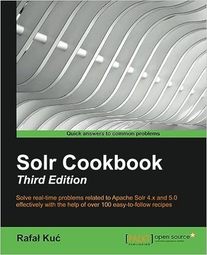 Apache solr 4 cookbook | packt books.