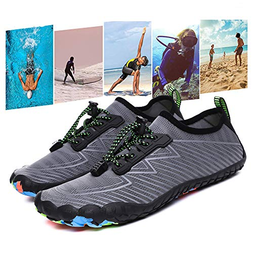 YiAchieve Water Shoes,Quick Dry Water Shoes for Women Men Barefoot Water Shoe Beach Shoes for Swimming Diving Surf Aqua Sports Pool Beach Walking Yoga