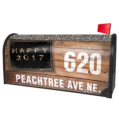 NEONBLOND Custom Mailbox Cover Happy 2017 Fireworks -