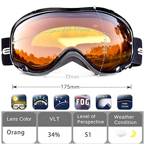 516e4aeda6b SS510 - HUBO SPORTS Ski Snow Goggles for Men Women Adult