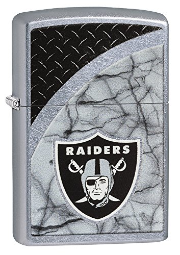 Zippo NFL Oakland Raiders Street Chrome Pocket Lighter