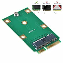 QNINE M.2 NGFF SSD to mSATA Adapter, Support 2230 2242 Solid State Hard Disk Drive Converter as Mini PCIE SATA HDD