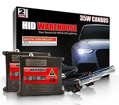 HID-Warehouse 35W AC CanBus Xenon HID Lights with Premium Error Free/Anti Flicker AC Ballast