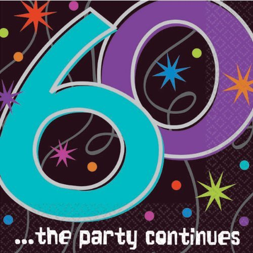 (Amscan The Party Continues 60th Birthday Beverage Napkins )