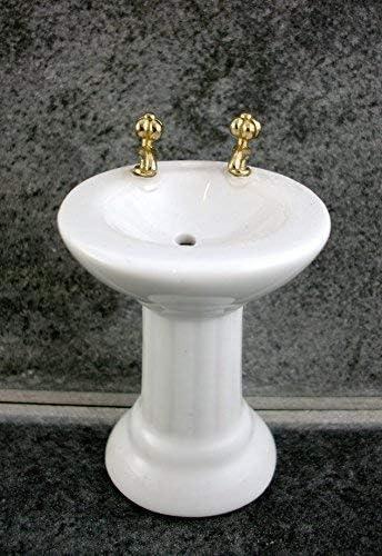 Melody Jane Dolls House Bathroom Furniture White Porcelain Sink Basin