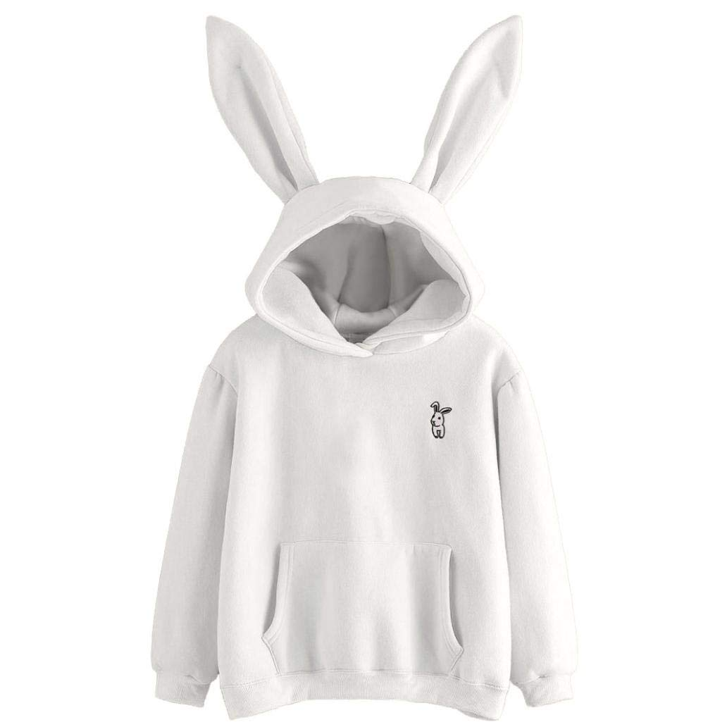 YANG-YI Clearance, Women Long Sleeve Rabbit Hoodie Sweatshirt Pullover Top Blouse