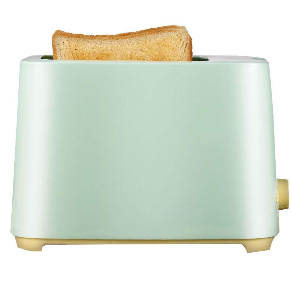 RMXMY 家庭用多機能トースター家庭用2スライス朝食ステンレスローストトースターキッチン用品(グリーン) B07RNL8YB4