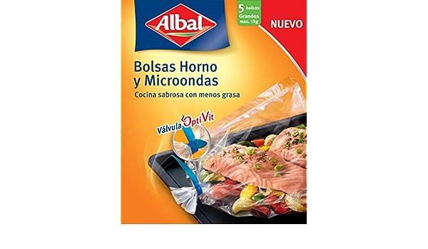 Albal Bolsas para horno y microondas, válvula de cierre ...