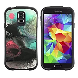 Paccase / Suave TPU GEL Caso Carcasa de Protección Funda para - Sea Painting Sun Sunset Art Nature - Samsung Galaxy S5 SM-G900