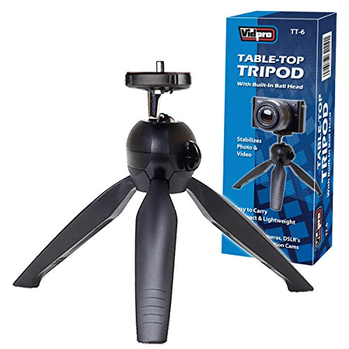 Vidpro TT-6 Table-Top Tripod with Built-In Ball Head