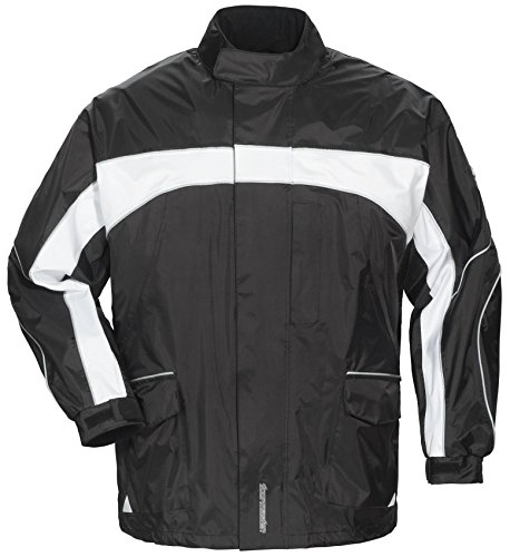 Tourmaster Elite 3 Rain Jacket (X-LARGE) (BLACK/BLACK/WHITE) by Tourmaster