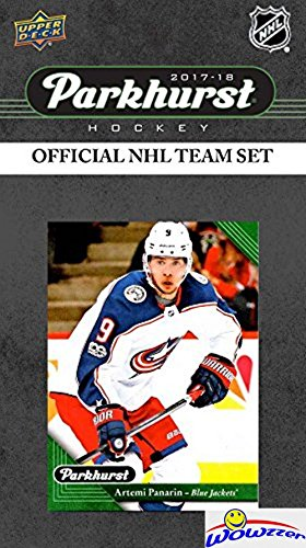 Columbus Blue Jackets 2017/18 Upper Deck Parkhurst NHL Hockey EXCLUSIVE Limited Edition Factory Sealed 10 Card Team Set including Brandon Saad, Brandon Dubinsky & all the Top Stars & RC's! WOWZZER! Card Blue Jackets
