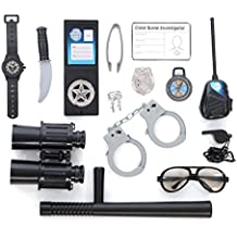 Policía Papel Play Kit; (14PC Set)