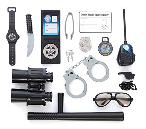 Police Role Play Kit; (14 Pc - Cheap Sunglasses Nyc