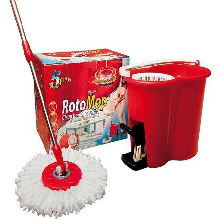 Original RotoMop Broom and Bucket
