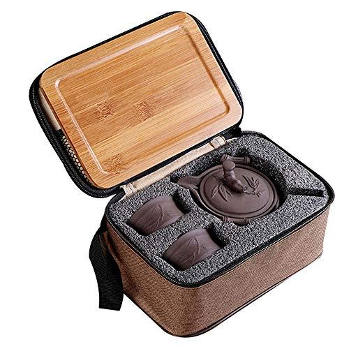 Felice Travel Teaset Portable Kungfu Gongfu Tea Set Green Tea Pu Erh Black Tea Oolong Longjing Tea Ware