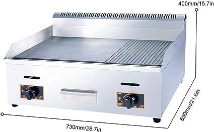 IDABAY Plancha Eléctrica para Encimera Parrilla Comercial y Profesional Termostato Placa Acero Inoxidable para Barbacoas Restaurante Hotel Bar: Amazon.es