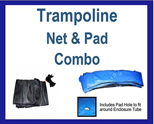 Net and Pad Combo For 14 Ft Frame with 4 Pole Top Ring En...
