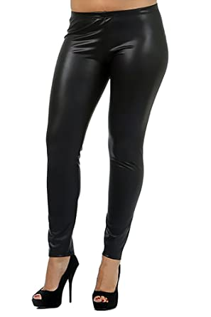 bc601e1f6dd1 World of Leggings® PLUS SIZE Matte Faux Leather Leggings - Made in ...