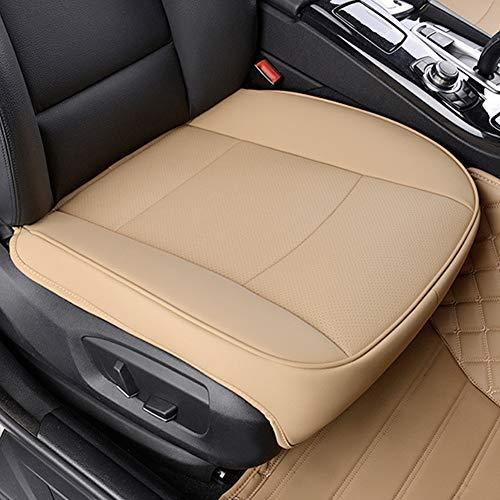Cojines de asiento de coche, piel sintética, almohadilla para asiento delantero del coche, sin respaldo de silla,...