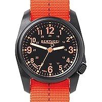 Bertucci DX3 Field Resin Watch, Dash-Striped Drab Nylon Strap, Black Dial -...