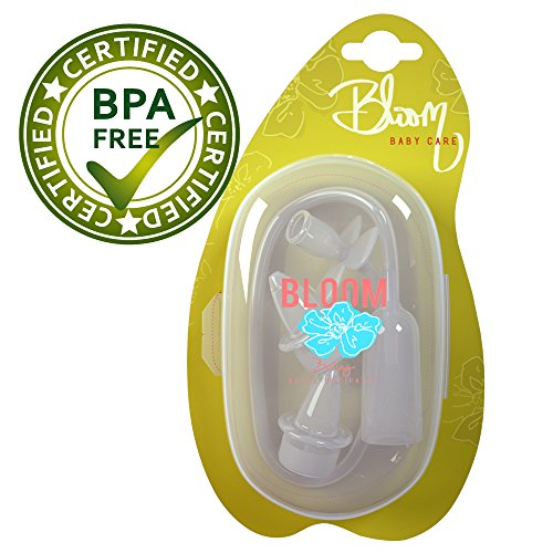Baby Nasal Aspirator - Reusable Snot Sucker for Babies - BPA Free and FDA Approved Baby Nose Cleaner - Easy Clean and Washable - Includes Bonus Carrying Case by Bloom Baby Care (Image #3)