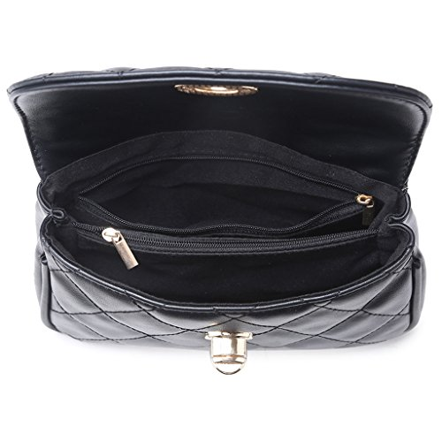 Women Chain Fanny Waist Bag Pack Black White Pattern Travel Rhomboids Purse Fanny JAGENIE Belt Cwg6Bqpw