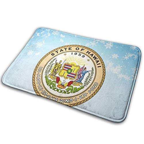 - EWFXZq Seal of The State of Hawaii Doormat Anti-Slip House Garden Gate Carpet Door Mat Floor Pads 15.7