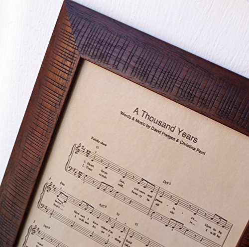 Square Leather Photo (Real leather engraving, music notes sheet engraved on genuine leather, 3rd wedding anniversary gift, leather picture, custom engraving)